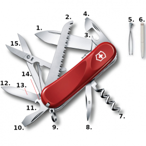 Victorinox Evolution 17 Swiss Army Knife - Red