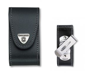 Victorinox 91mm 5-8 Layers Leather Belt Pouch With Rotating Belt Clip