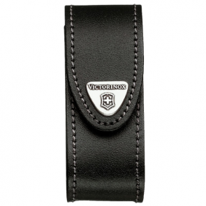 Victorinox 91mm 2-4 Layers Leather Belt Pouch - Black