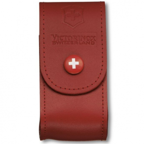 Victorinox 91mm 5-8 Layers Leather Belt Pouch - Red